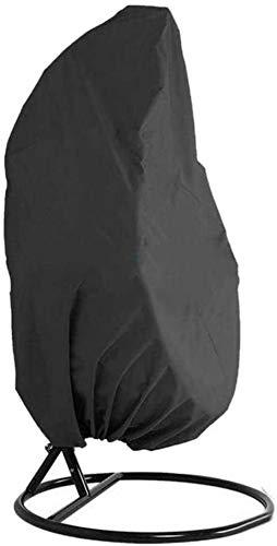 Nbpls Cubierta de Silla de Swing de Huevo Impermeable del Patio, Protector de Silla Colgante a Prueba de Polvo al Aire Libre, Tejido de poliéster 210D, 232x203cm (91'x80), Negro Cubierta Protectora