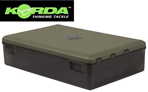 Korda Tackle Box - Angelbox zum Karpfenangeln, Tacklebox für Zubehör zum Angeln auf Karpfen, Box für Karpfenzubehör, Zubehörbox