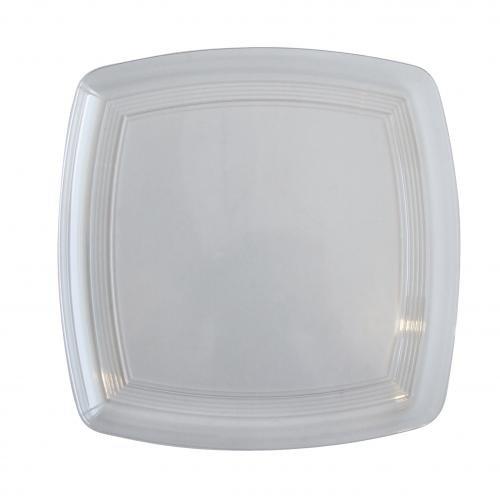 Plastico 1006 clair carré Plastique Platters- (lot de 25)