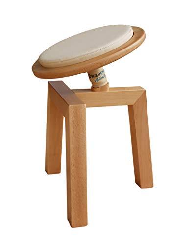 Decem Chair- Silla de Oficina ergonómica Fitness para Escritorio Artesanal de Madera sin Respaldo. Entrena Mientras trabajas.