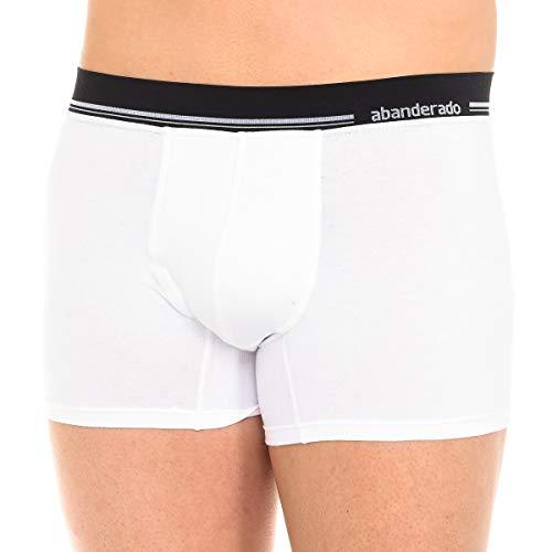 Abanderado Boxer con Cinturilla Extra Suave de algodón elástico, Blanco (Blanco 001), Large (Tamaño del Fabricante: L/52) para Hombre