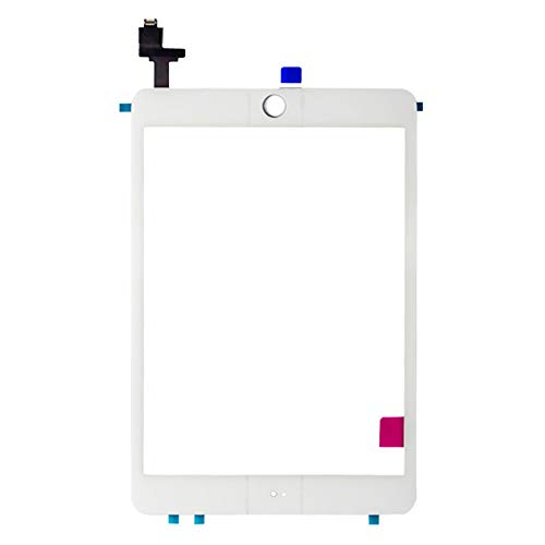newshijieCOb Wear-Resistant Outer Touch Screen Glass Replacement Tool Kit Compatible with iPad Mini 1and Compatible with iPad Mini 2 White