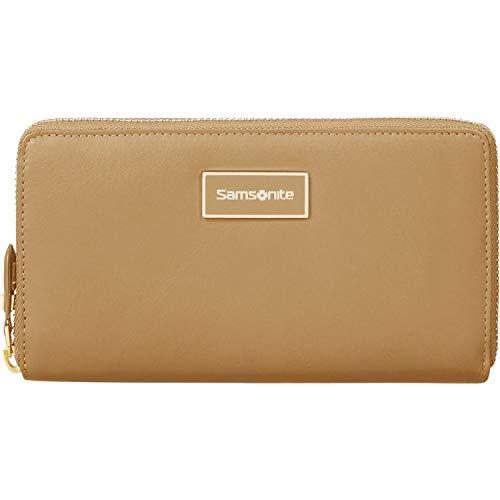 Samsonite Karissa LTH SLG L Zip Around Cognac portemonnee portemonnee portemonnee