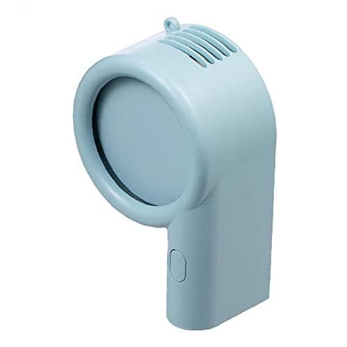 Collar Personal Mini Ventilador de mano portátil de velocidades del ventilador ajustable USB 800mAh Escritorio Ventilador para las mujeres de los hombres de los niños azul, Ventilador