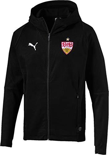 PUMA Herren VfB Stuttgart Casuals Hooded Jacket Jacke, Black Red, S