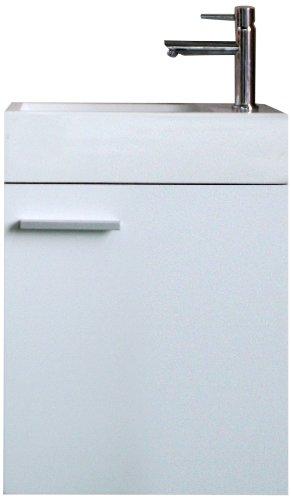 Aquatrends 600450 - Mobile lavello completo, modello Salerno, colore: Bianco brillante