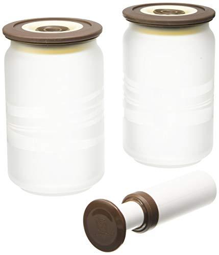 Vacuumsaver COFI Colopots - 2 barattoli sottovuoto da 750 ml, con apposito attrezzo per sottovuoto