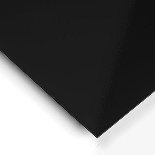 Metacrilato opaco Negro - 60 x 50 cm x 3 mm