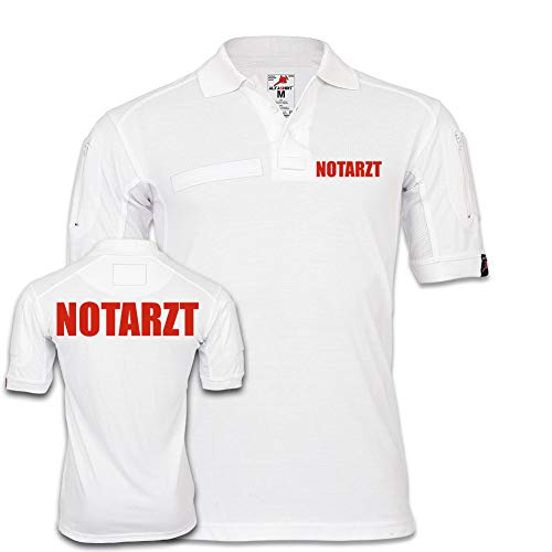 Copytec Tactical Polo Notarzt Doktor Arzt Krankenhaus Bekleidung Hemd KRKW #24810, Größe:L, Farbe:Weiß