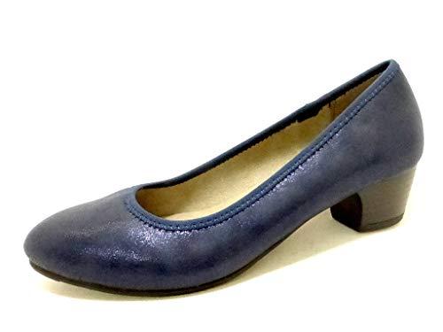 Softline , Escarpins pour Femme - - Navy Metallic 897, 37 EU