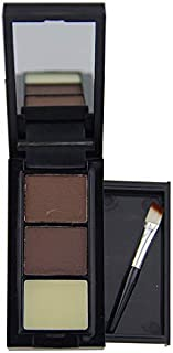 3 Color Professional Eye Shadow Eye Brow Makeup Eyebrow Powder + Eyebrow Wax Palette + Brush Makeup A2