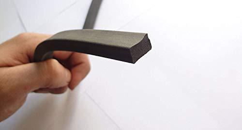 Neopren-Kautschuk-Dichtung, extrudiert, 1,2 cm hoch und 1,5 cm breit, Universal-Dichtungsprofil-Streifen