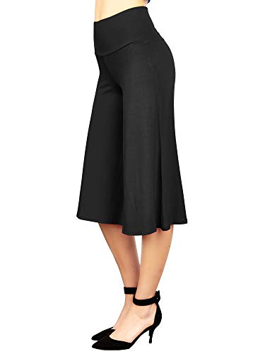 MBJ WB876 Womens Knit Culottes Pants XXXL Black
