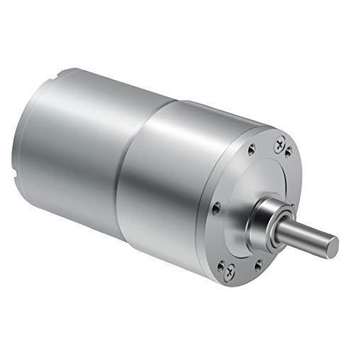 KONGZIR Engranaje de la CC del motor y par alto reversible eléctrico motorreductor - con salida de caja de eje excéntrico (12 V / 400 rpm)