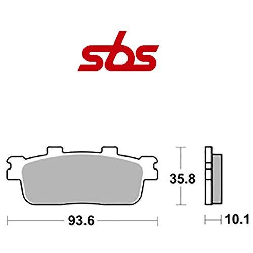 Compatible con DAELIM ST Sector Quad 250 2005-2006 PASTIGLIA Freno posteriore Pastillas DE Freno SBS 201HM ORGÁNICO