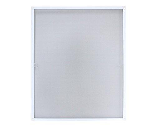 myowntrade - Zanzariera con telaio in alluminio, disponibile in diverse misure, con telaio per la finestra, Plastica metallo, bianco, 100 x 120 cm