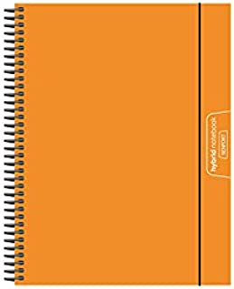 Senfort Cover Polypropylene Unicolor A5 120 Sheets 4 Colours Paper 90 GRS Notebook with Elastic and Pocket, No. 15 Orange