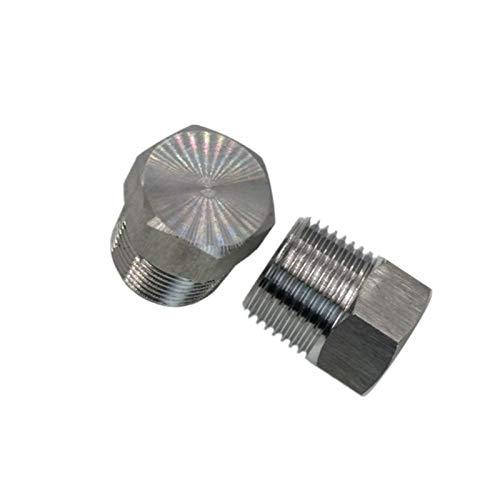 ooege Rosca Exterior de Acero Inoxidable de Cabeza Hexagonal Final tapón instalación de tuberías Adaptador de Conector (Thread Specification : 3/8')