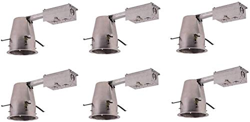 Freedy Lighting 51210 Aluminium Finish 4 inch ICAT Remodel Housing, 120V, T24 Connector,Led Retrofit 6 Pack