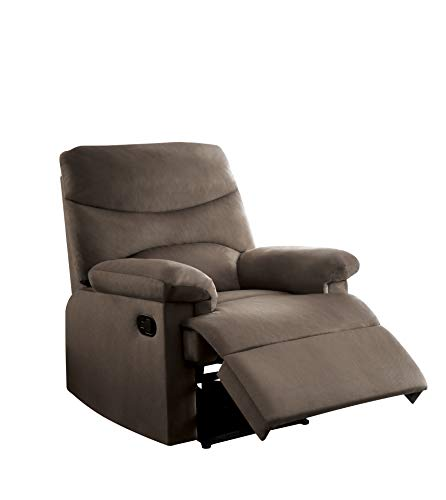 ACME Furniture Acme 00703 Arcadia Recliner, Light Brown woven Fabric
