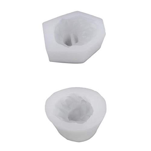 Baoblaze 2Pcs 3D Wolf & LionFondant Molde de Pastel de Mousse Molde de Caramelo Molde de Arcilla Polimérica