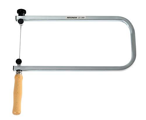 Hegner Laubsägebogen LS 300 (Ausladung 300 mm, Einspannsystem für Sägeblätter, Holzsäge für Kinder, Modellbau…) 96300