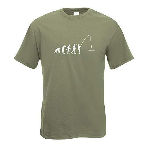 Angler Angeln Evolution T-Shirt Motiv Bedruckt Funshirt Design Print