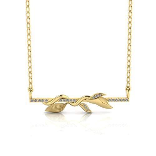 Jbr The Klimplant - Collar de plata de ley para boda, aniversario, día de San Valentín para esposa, novia y niña, con caja de regalo