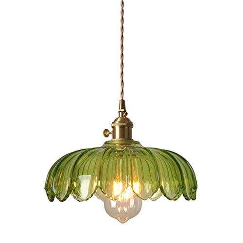 OPW Vintage jardín lámpara Colgante Retro país Verde Chandelier E27 lámpara Techo Colgante luz Interior Cocina Bar cafetería Restaurante decoración iluminación