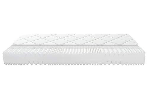Matratzen Perfekt 7-Zonen Kaltschaummatratze in den Härtegraden H2, H3, H4, Gesamt-Höhe von 18 cm, Vital Basic Komfortschaum-Matratze mit Klimafaser verstepptem Doppeltuchbezug (H4, 180 x 200 cm)