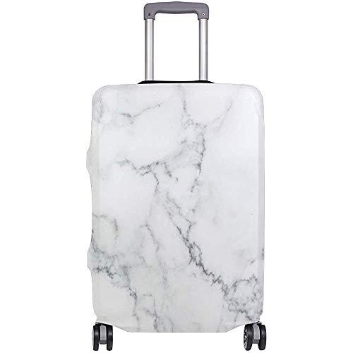 Cubierta de Equipaje de Viaje Flexible de mármol Natural Blanco Protector de...