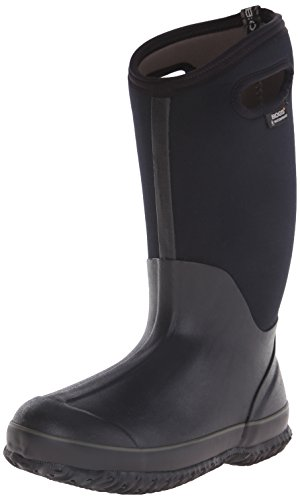 Bogs Women's Classic High Handle Wide Calf Waterproof Insulated Boot,Black,7 M US