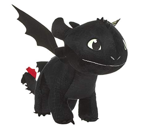 Joy Toy 12431 How to Train Your Dragon 3 Toothless Soft Toy with Features-60cm Plüsch mit Glow in The Dark Effekt, bunt