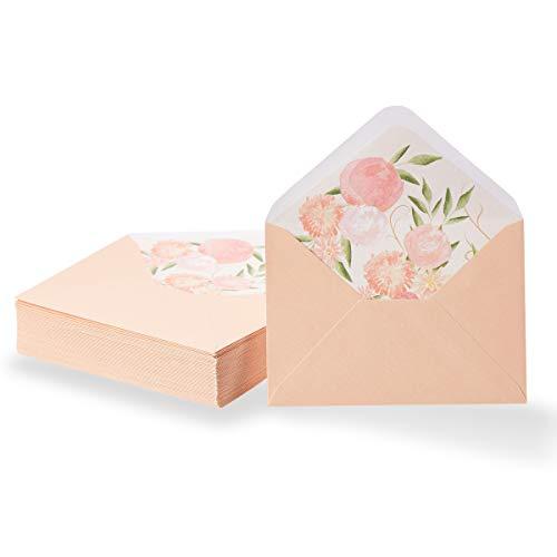 PaperJunkie - Sobres de invitación para ocasiones especiales, para boda, graduación, cumpleaños, 120 g/m²