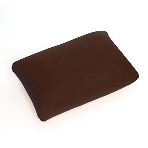Cushie Pillows Microbead Squishy/Flexible/Hypoallergenic/Comfortable Rectangle Pillow (Brown