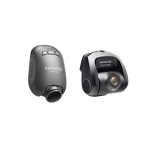 Kenwood DRV-A700WDP Compact HD Dual Dash Cam with Front & Rear View Recording, Parking Mode Recording | Built-in GPS | Wireless Link