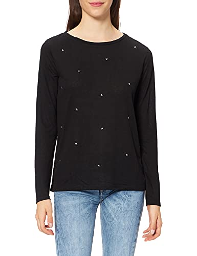 Springfield Camiseta TACHAS, Negro, L para Mujer