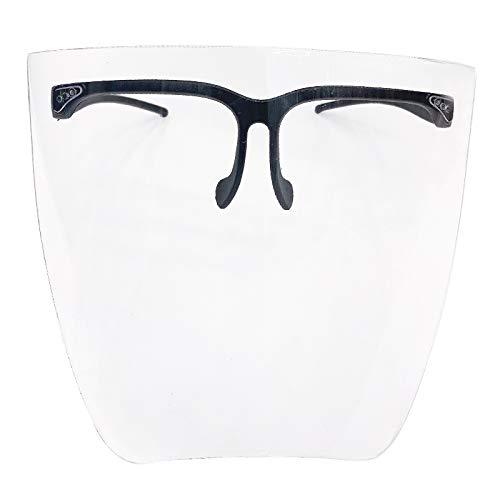 YOUANG Gafas de Montar Visera Escudo Protector Protectores Faciales de Seguridad con Monturas de Gafas - Protector Ocular Unisex Protector Facial Ultra Claro Gafas Deportivas de Esquí