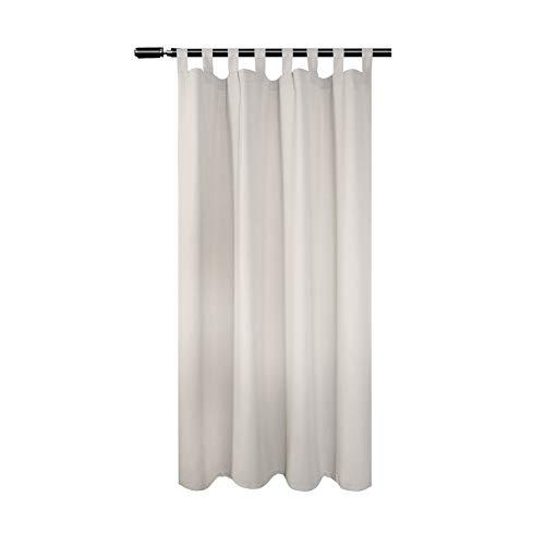 WOLTU VH5900cm Tenda Drappeggio 1 Pannello Tenda Oscurante per Finestra Decorativa da Camera da Letto Crema 135x175 cm