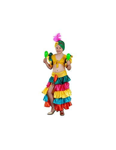 DISBACANAL Disfraz Rumbera de Colores niña - -, 8-10 años