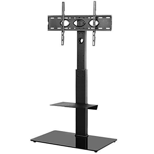 RFIVER TV Ständer Rack Fernsehständer 32-65 Zoll Freistehend Bodenständer Standfuss Standfuß Max. VESA 600x400 mm Höhenverstellbar Schwenkbar mit einem Metallplatte TF2001