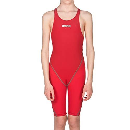 arena Mädchen Badeanzug Wettkampfanzug Powerskin ST 2.0 (Perfekte Kompression, Minimierter Wasserwiderstand), Red (45), 140