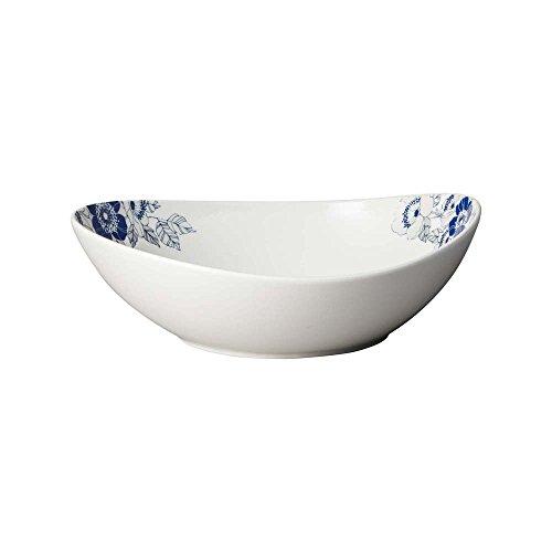 Denby Monsoon Fleur Grand Bol de Service, Porcelaine Anglaise, crème, 26 x 23 x 6 cm