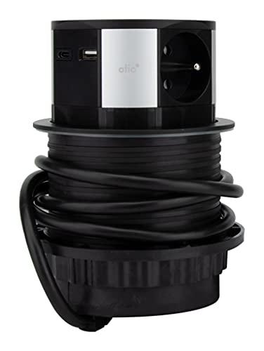 Regleta empotrable con cargador USB e inducción – Otio