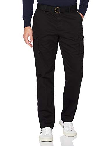 MERAKI Herren Chinos aus Baumwolle, Schwarz (Black), 30W / 32L, Label: 30W / 32L