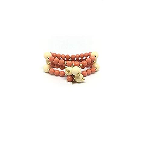 Joyas y pañuelos Masmas Collection (pulsera de pasta de coral y pasta de marfil)
