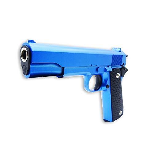 Set completo Rayline: Softair V14B (blu) - Replica di una lega di zinco Peso circa 450 g - scala 1: 1 - lunghezza 22 cm - pressione della molla - calibro universale 6 mm Buon equilibrio nella mano - costruzione massiccia e pesante Softair V14-B (vers...