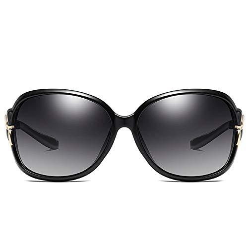 SWNN Sunglasses Material De PC Salvaje Clásico UV400 Gafas De Sol Tendencia Negra Modelos Femeninos Conducir Gafas De Sol (Color : Black)