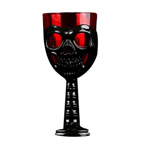 Amosfun Halloween Kunststoff Becher Schädel Dekor Kunststoff für Bar ktv Shop (Nicht-Luminanz-Muster, zufällige Farbe)