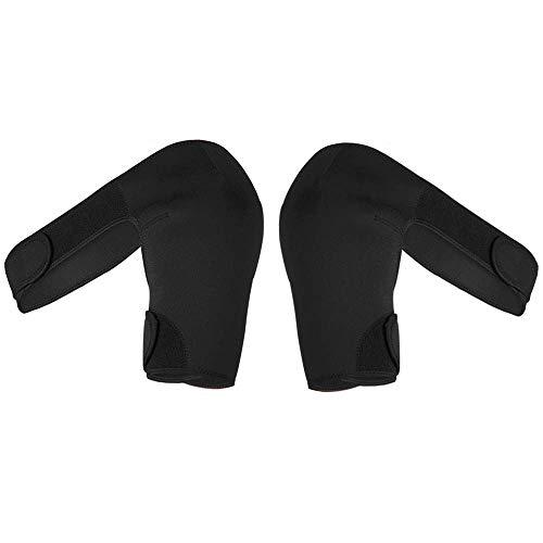 Vrttlkkfe 2 unids soporte de hombro soporte trasero protector correa envoltura cinturón almohadillas solo hombro ajustable negro - derecho e izquierdo